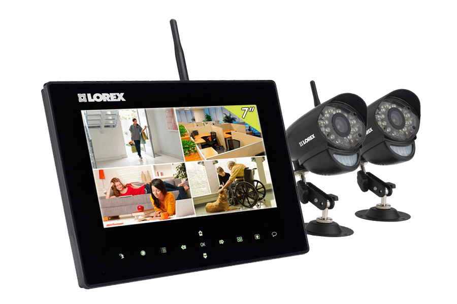 Wireless Home Camera System With 2 Outdoor Cameras