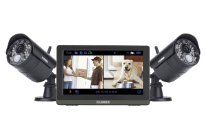 Wireless 720p Touch Screen Video Surveillance System with 2 Cameras and 7