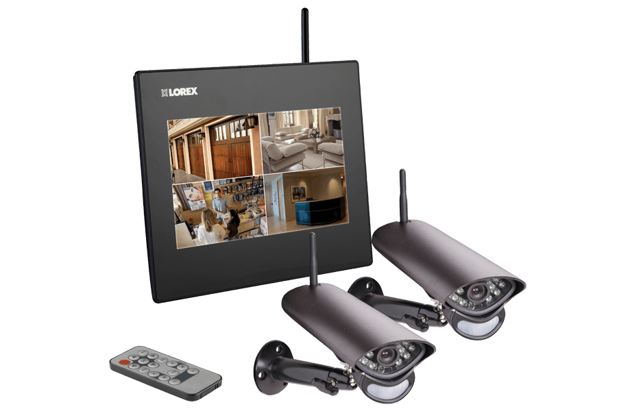 Wireless camera home system with motion detection, 9 inch monitor