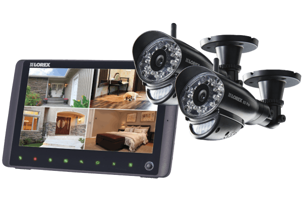 SD Pro Wireless Video Surveillance System with 2 Cameras and 9