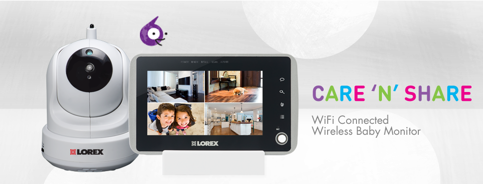 WiFi Baby Monitor with Pan-Tilt camera