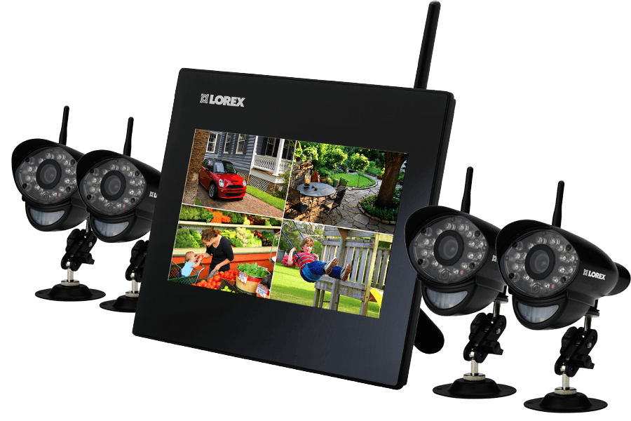 Home security camera system with 7inch monitor and 4 wireless ...