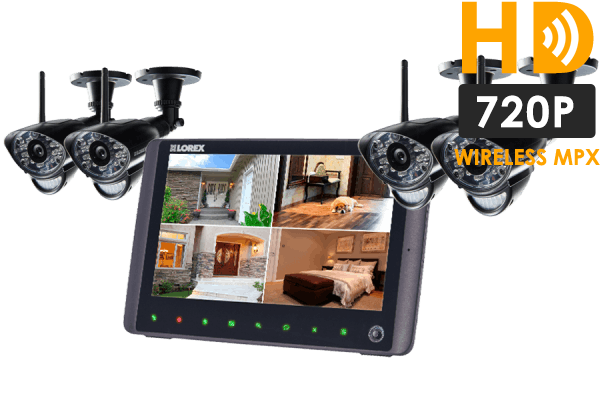 Wireless home monitoring system with 720p cameras