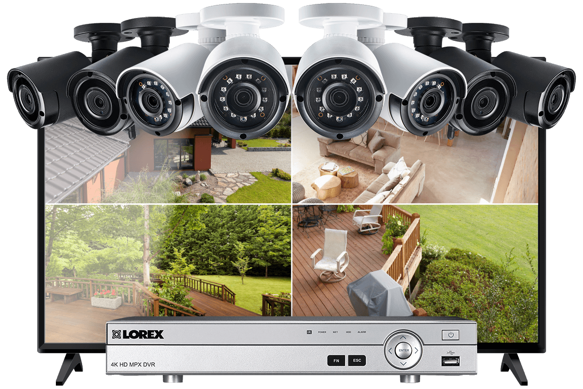 8-Channel System with 2 Wireless and 2 HD 1080p Resolution