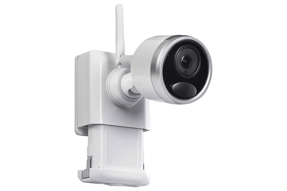 1080p Wireless Camera System With 4 Battery Operated Wire Free Camara Cctv Cable Wiring Diagram Cameras 65ft Night Vision