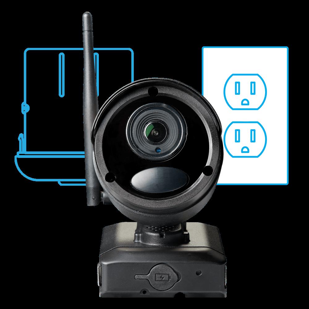 hybrid wireless wired security camera
