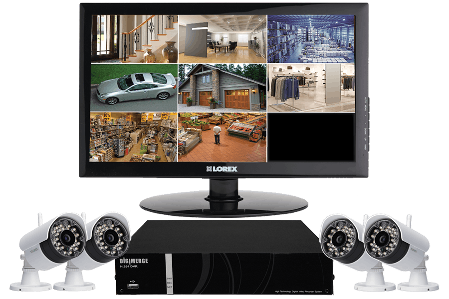 Security camera with monitor wireless