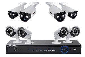 Wireless cameras for home security with 2 wireless night cameras and 2 wired cameras