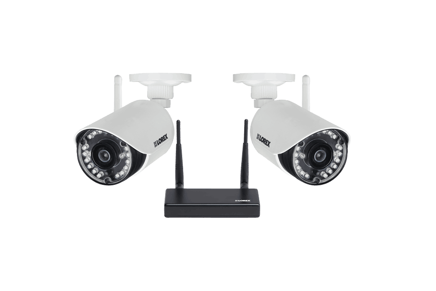 HD 720p indoor outdoor wireless security cameras with receiver 2 pack