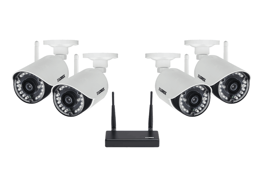 720p HD Weatherproof Wireless Security Cameras with Receiver