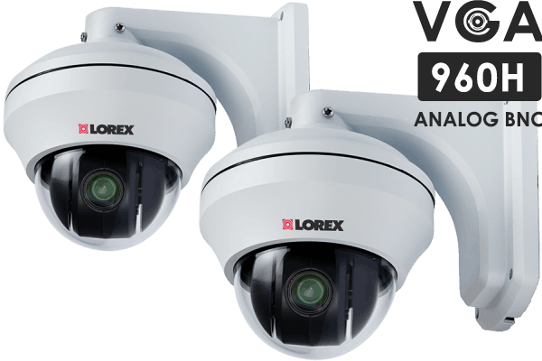 Pan-Tilt-Zoom security cameras with 10x Zoom (2-pack)