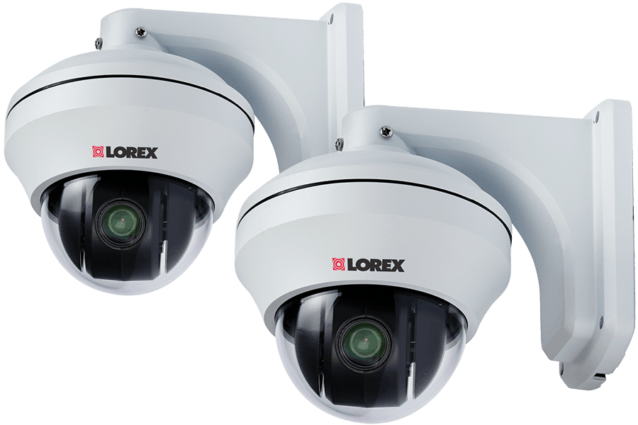 Pan Tilt Zoom security cameras with 10x Zoom 2 pack