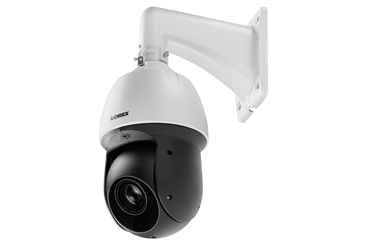 HD Security System with 1080p Dome Cameras and Optical Zoom Metal PTZ  Camera, Color Night Vision