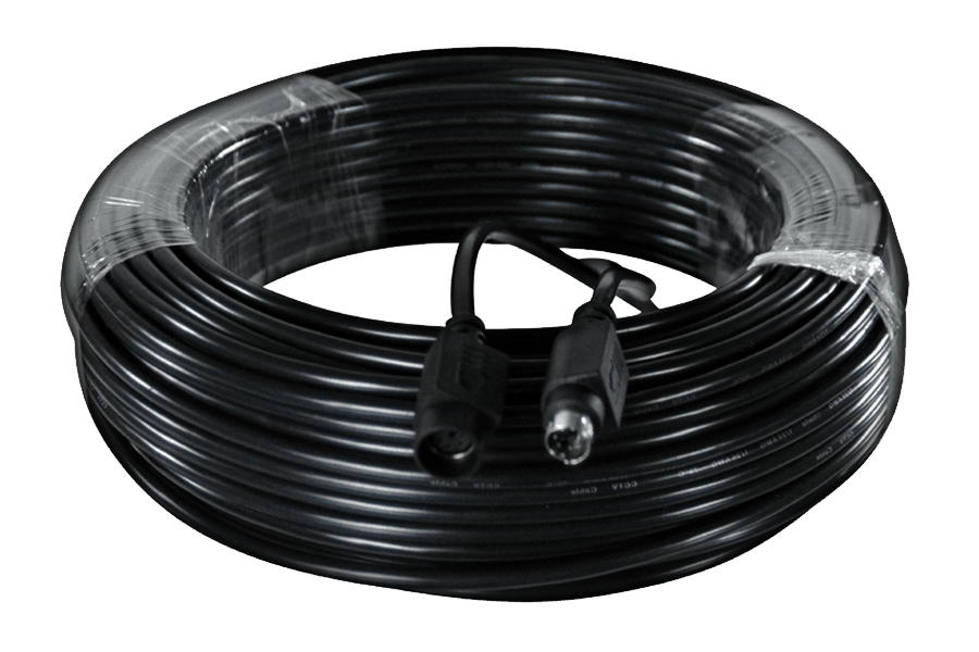 55FT security extension cable (Black) - 6PIN DIN extension cable