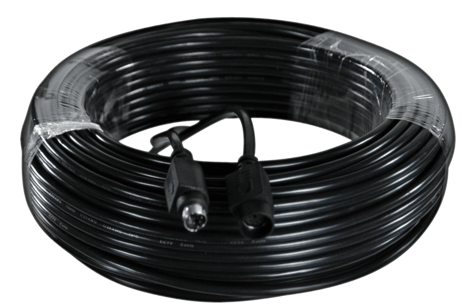250FT6-PIN DIN Extension Cable In Wall, Fire Rated