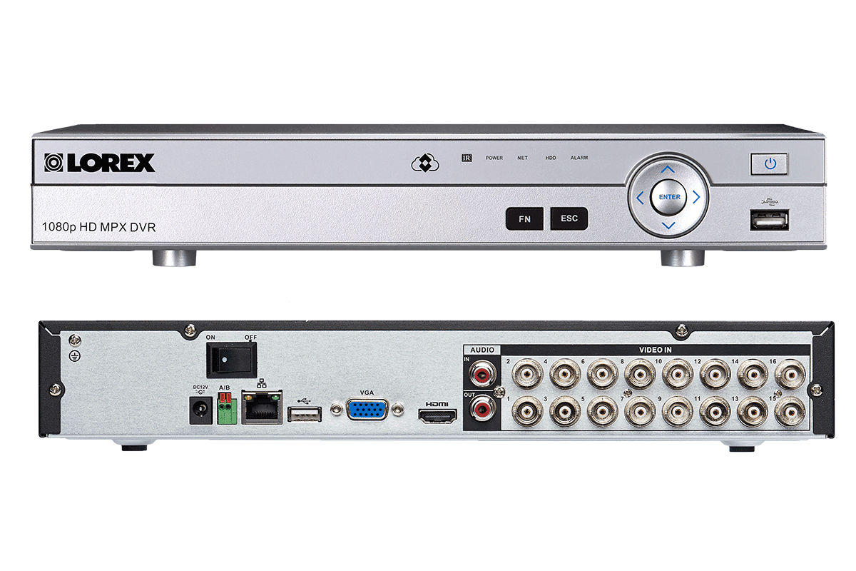 HD 1080p surveillance camera system with monitor and 16 wide angle security cameras