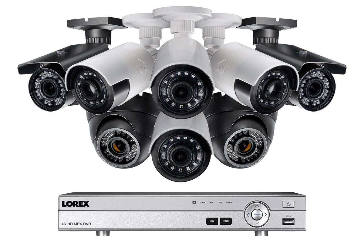 1080p HD Security System with Bullet Ultra Wide Angle and Varifocal Dome Cameras
