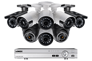 1080p HD Security System with Bullet, Ultra Wide Angle, and Varifocal Dome Cameras