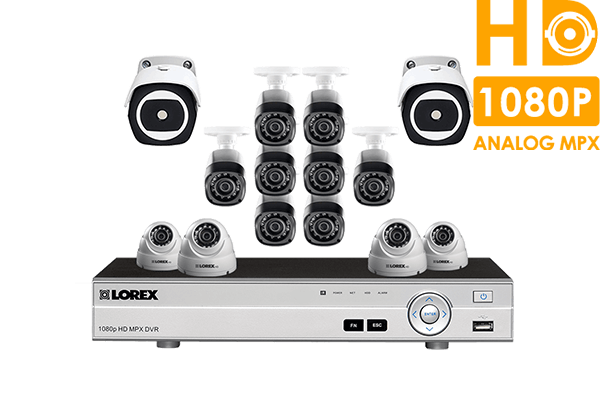 16 Channel 1080p HD Security Camera System with 12 1080p