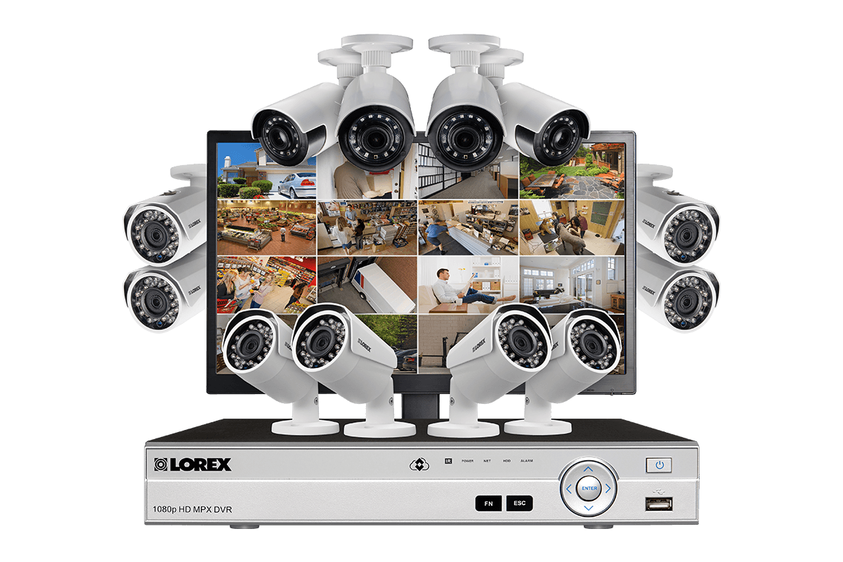 Hd wireless video security system with 720p video and flir secure.