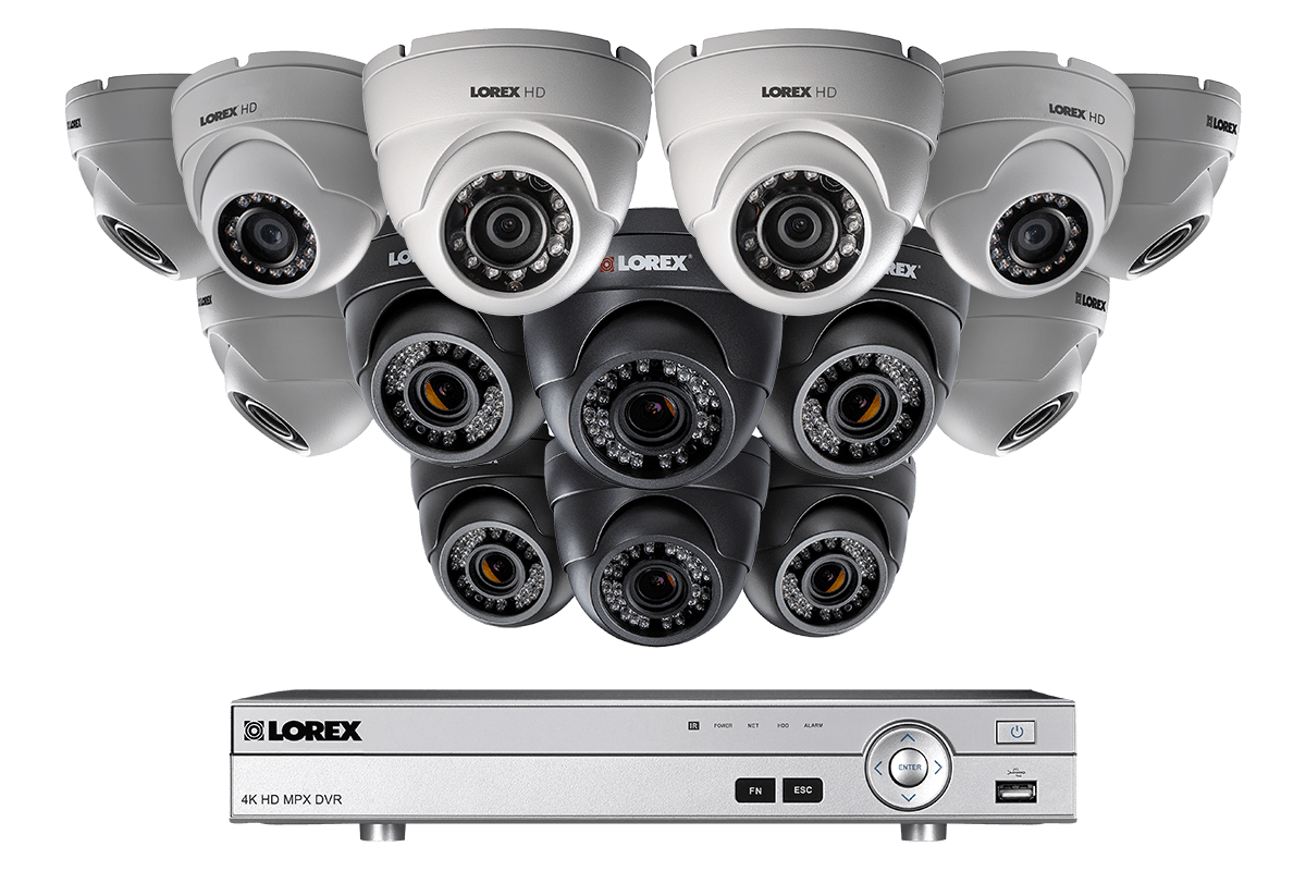 14 camera HD 1080p security system including 6 motorized varifocal security cameras