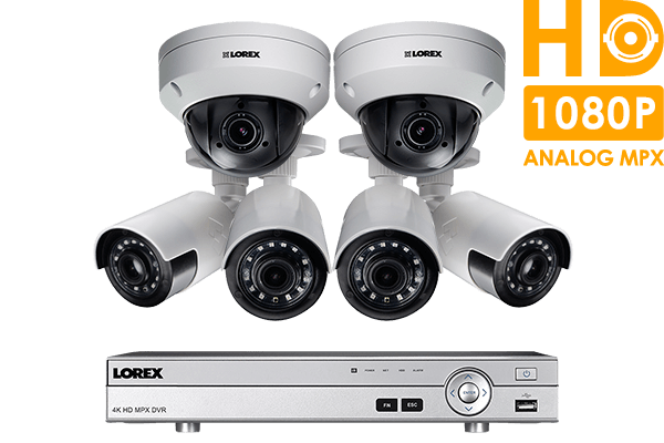 HD Home Security System featuring 4 Ultra Wide Angle Cameras and 2 ...