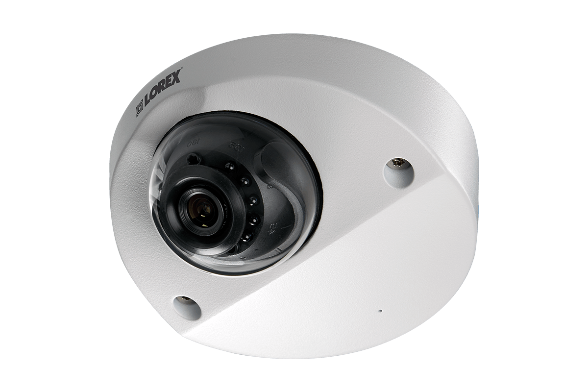 HD surveillance system featuring 4 audio-enabled cameras