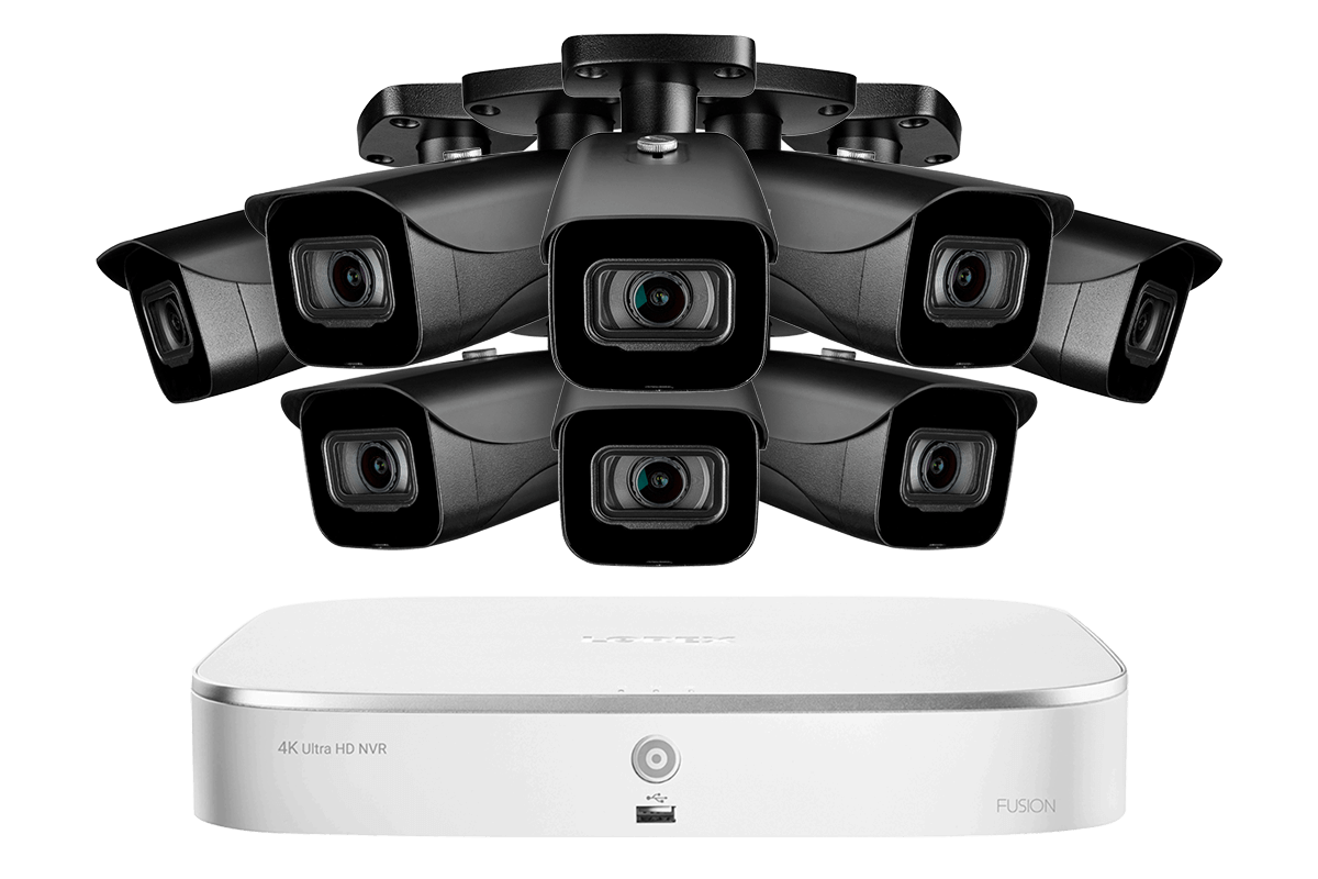 4K Ultra HD IP NVR System with 8 Outdoor 4K 8MP IP Cameras Lorex N4K2-88BB