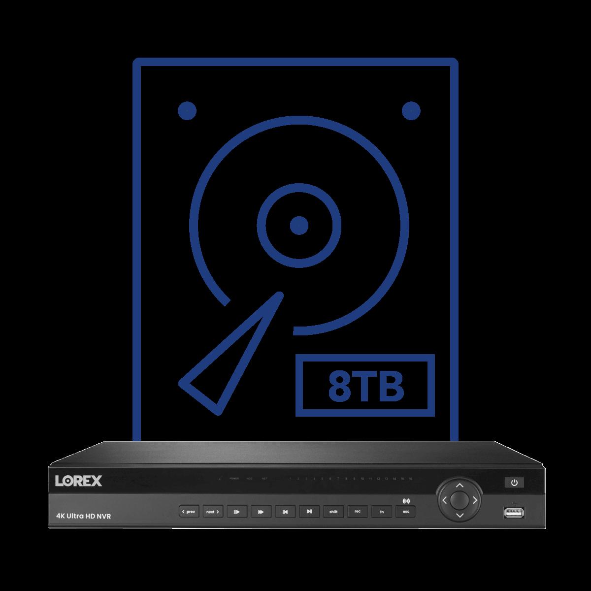 8TB security hard drive