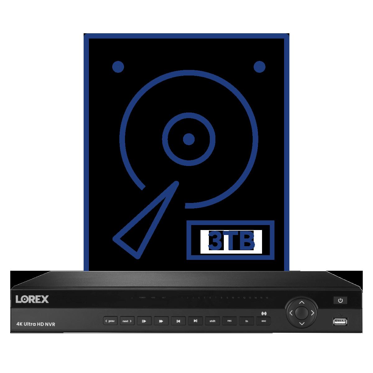 3TB security-grade hard drive