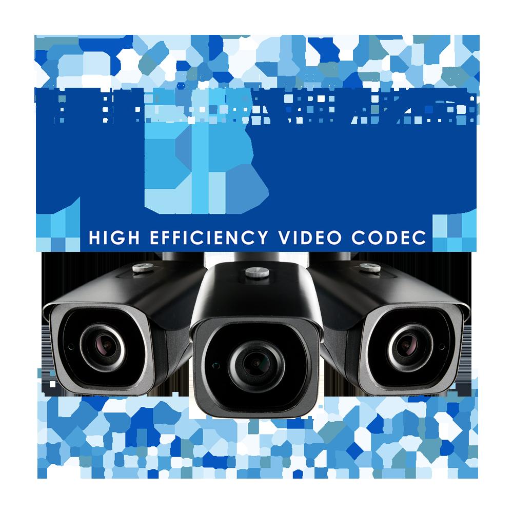 HEVC logo H.265 security camera model LNB8973