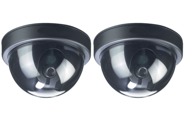 Fake dome security cameras (2 pack)