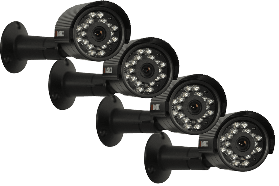 Security cameras with night vision (4 Pack)