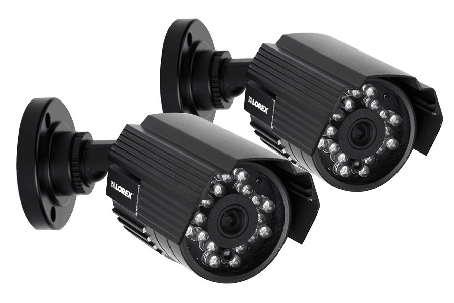 Audio security cameras with night vision