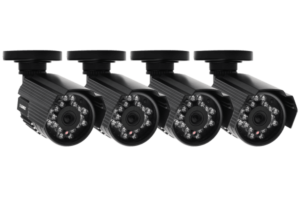 Outdoor surveillance cameras with audio (4 Pack)