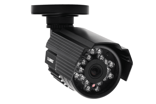 Super resolution security camera with audio