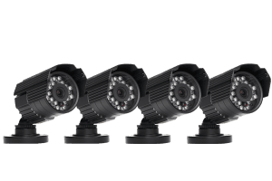 Outdoor security cameras 600 TVL with 60FT Night vision (4 Pack)