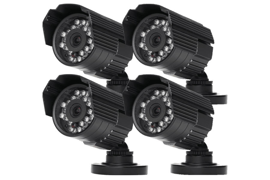 Outdoor security cameras 600 TVL with 60FT Night vision 4 Pack