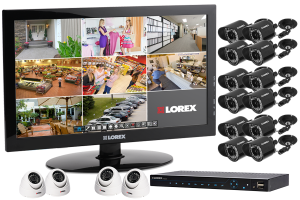 16 camera surveillance system with outdoor security cameras