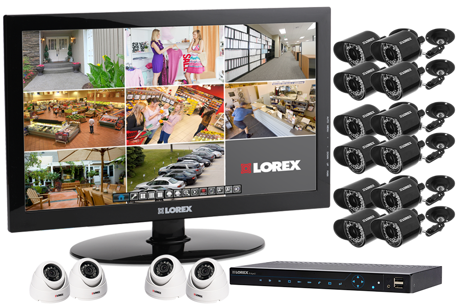 Complete security camera surveillance system and 8 outdoor security cameras with 24
