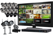 wireless cameras system with 3 wireless cameras and 6 security cameras touch monitor