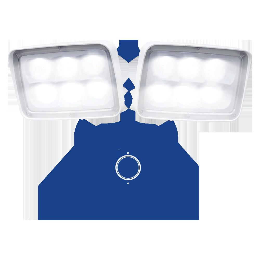 dual floodlights security camera