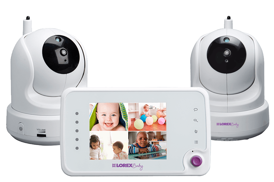 Baby monitor with 2 PTZ cameras and 3.5inch monitor