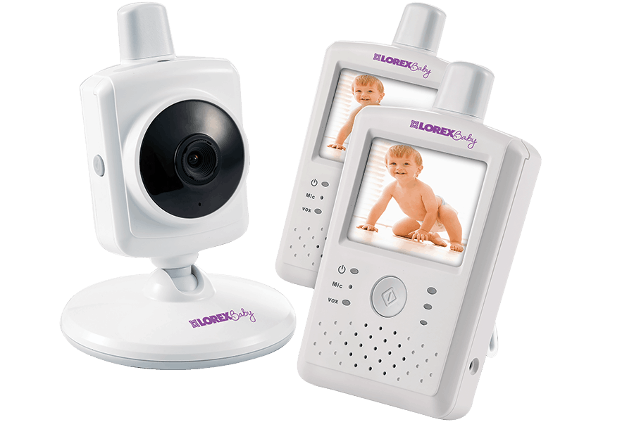 Dual Touch Screen Video Baby Monitor with Two-Way Audio