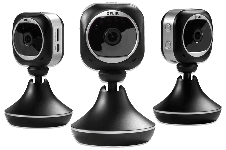 1080p WiFi security cameras with cloud recording, night vision and audio - 3 Pack