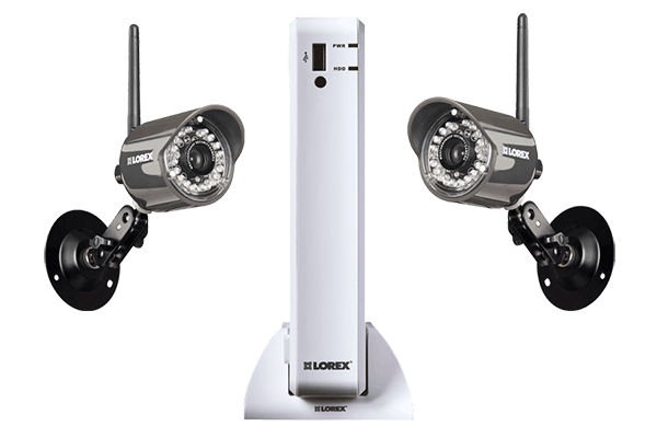 Wireless DVR Security Camera System with 2 outdoor wireless cameras