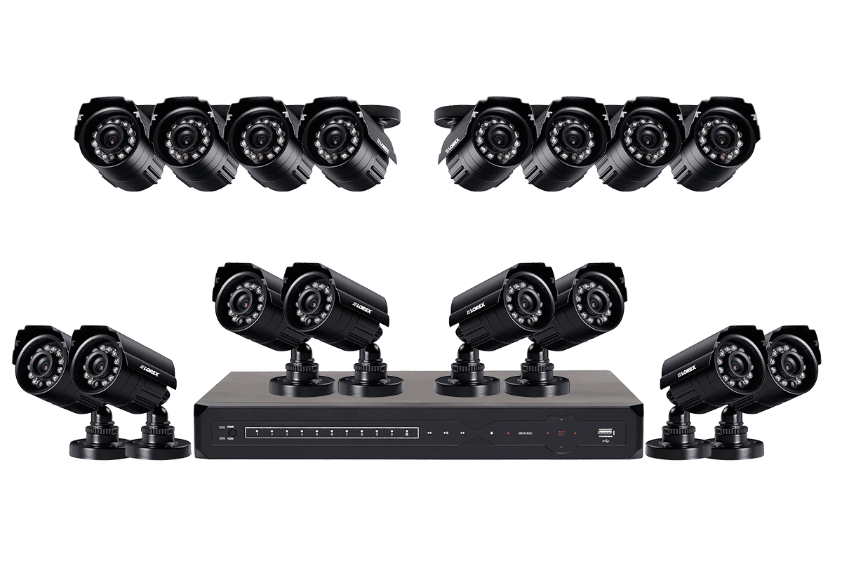 900TVL Security Camera System with 16 Cameras