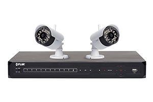 Wireless Surveillance Camera System with 8 Channel DVR and 2 cameras