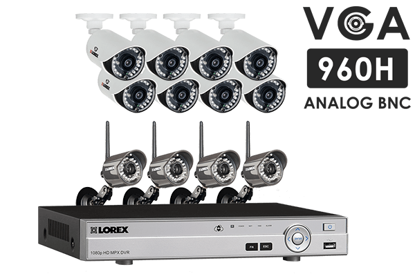 Security Camera kit with 24 Channel DVR, 4 Wireless and 8 Wired Cameras