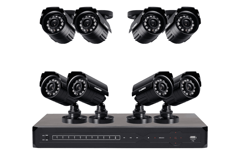 Security Surveillance System with 8 Channel DVR and 8 Indoor/Outdoor Cameras